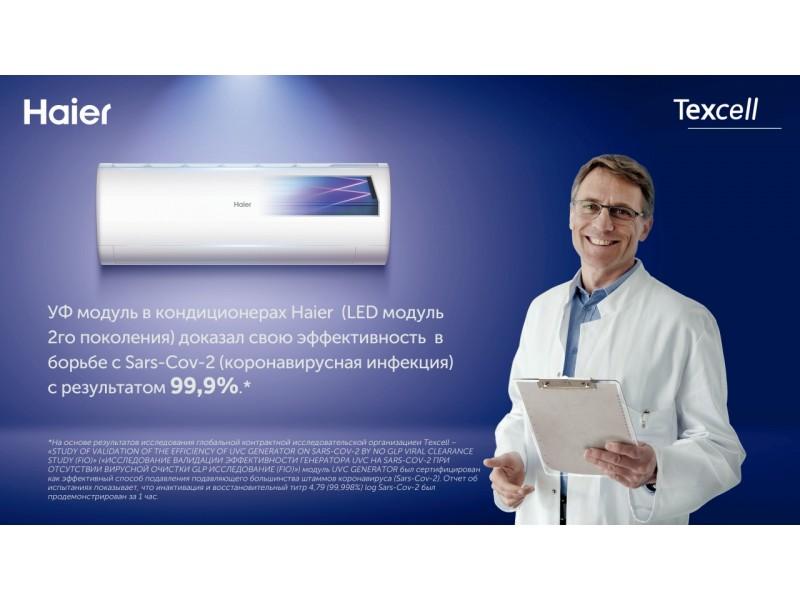 УФ-кондиционеры Haier эффективны против SARS-CoV-2